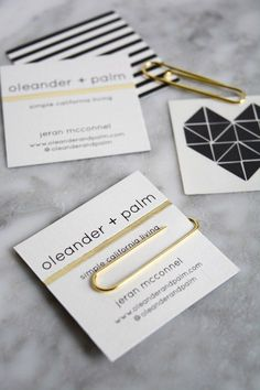 Square Business Cards and Temporary Tattoos | Oleander + Palm