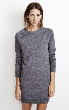 Marc Sweater Dress Charcoal Twist