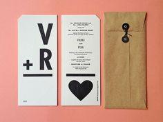 Vianka & Ryan - Caleb Bennett. Flashcard style invites inspired by the bride's love for teaching.