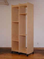 """Painting Storage Rack for storing art. This Art Storage System is is 38.25"""" wide x 99"""" tall x 23.75"""" deep. There are two 18"""" wide spaces for..."""