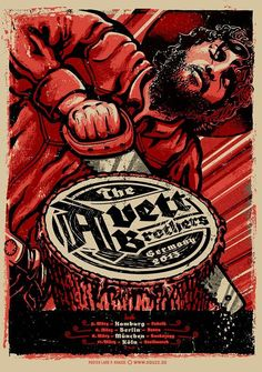 The Avett Brothers Poster by Lars P Krause