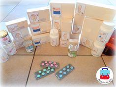 Verrijking Apotheek (Jolien in de klas) Bestaat uit pillendoosjes, pillenpotjes en pillenstrips.