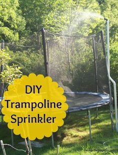 DIY Trampoline Sprinkler   Saving 4 Six