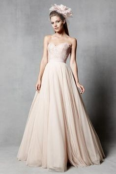 Pink wedding gowns so good they'll leave you blushing