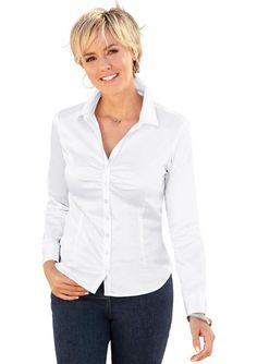 Classic Basics Bluse mit dekorativer Raffung