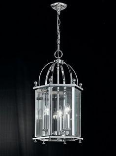 Madison 3 light Lantern in chrome finish with bevelled glass panels Beveled Glass, Lighting Solutions, Glass Panels, Chrome Finish, Light Decorations, Polished Chrome, Lanterns, Chandelier, Ceiling Lights
