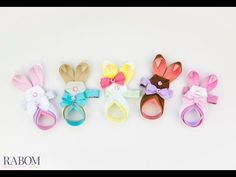 Easter Bunny Ribbon Sculpture Tutorial | Ribbon And Bows Oh My!
