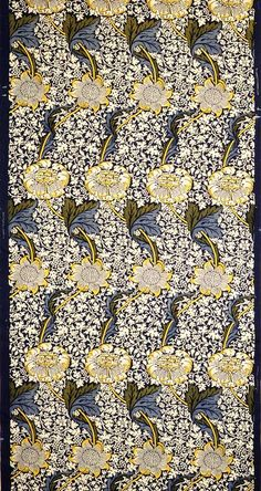 Length of printed cotton, 19th–20th century William Morris (British, 1834–1896); Manufacturer: Morris & Co., Merton Abbey, England Cotton; W. 38 1/4 in. (97.2 cm), L. 8 ft. 7 1/2 in. (262.9 cm) Gift of Edward C. Moore Jr., 1923 (23.163.7)