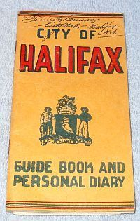 City of Halifax Nova Scotia Canada Guide Book City Map 1951, 50 black and white photos and descriptions of attractions, Fold out City of Halifax map in rear, 5.75 x 3 inches with 30 pages