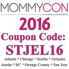 MommyCon 2016 Discount Coupon Code and Schedule #mommycon #clothdiapers #makeclothmainstream #breastfeeding #babywearing