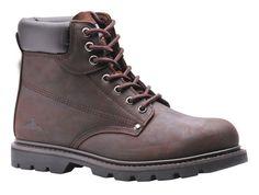 Scarpa scarponcino stivaletto boot color Marrone con puntale in acciaio
