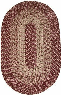 """Plymouth 20"""" x 30"""" Braided Rug in Wine by Constitution Rugs LLC. $15.95. 100% Nylon BCF surface yarns. Manufactured 100% in the U.S.A. Rugged Tubular Braid Construction. Reversible for added wear. Stitched with Polyester sewing thread. Banded premium tubular braided rug enhances both contemporary and traditional room decors"""