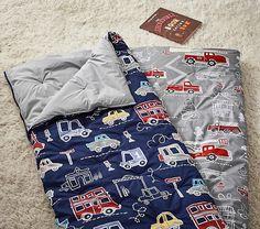Things That Go & Firetrucks Sleeping Bags | Pottery Barn Kids