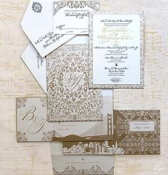 Bernidet and Joseph Classic Wedding Invitations by Ceci New York