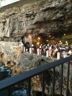 Hotel Ristorante Grotta Palazzese Polignano a Mare, Italy Amazing Hotels, Best Hotels, Bucket List Destinations, Travel Destinations, Places Around The World, Around The Worlds, Troglodytes, Bunny Book, Cool Restaurant