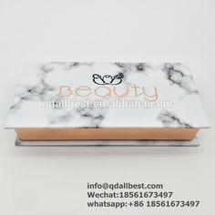 Wholesale Private Logo Metallic Marble Eyelash Box Mink Lash Display Box