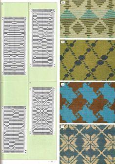 "Photo from album ""Pattern Library"" on Yandex. Card Patterns, Knit Patterns, Pattern Library, Knitting Charts, Knitting Machine, Fair Isle Pattern, Fair Isles, Shibori, Granny Squares"