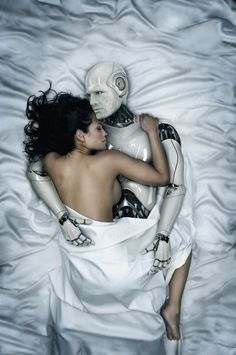 Woman Making Love to Robot