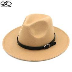 #DealOfTheDay #BestPrice LUCKYLIANJI Solid Color Men Women Wool Felt Panama Hat Fedora Caps Leather Band (One Size:58cm-US 7 1/4)
