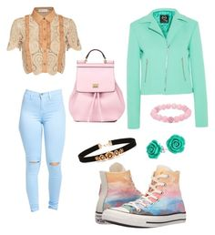 """Pastel///Titan High #8"" by jaqueline-grace on Polyvore featuring self-portrait, Converse, McQ by Alexander McQueen, Palm Beach Jewelry, Bling Jewelry, Forever 21 and Dolce&Gabbana"