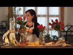 Cómo hacer un arreglo de esferas y rosas - YouTube