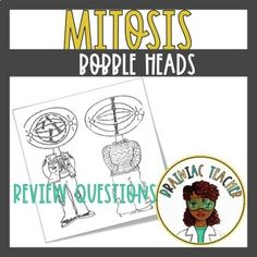 Mitosis by Brainiac Teacher Student Guide, Mitosis, Interactive Notebooks, Graphic Organizers, Deck Of Cards, Bobble Head, Task Cards, Teacher Resources, Biology