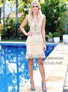 платье крючком alzira vieira
