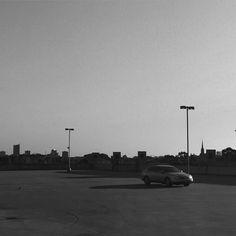 #sunset #bnw #monochrome #parking #concrete #minimal