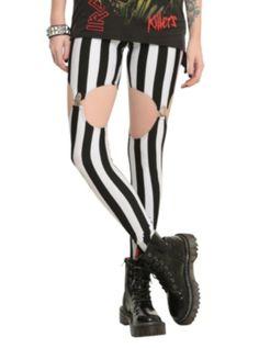 Black And White Striped Garter Leggings  http://www.hottopic.com/hottopic/Girls/Leggings/Black+And+White+Striped+Garter+Leggings-10280659.jsp