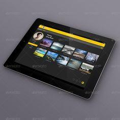 JetPack Panel - Admin Dashboard Tablet GUI Design by Selahattin Taşkıran, via Behance