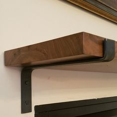 **** Free Shipping on Orders Over $200!!! Use Code 200FREESHIPPING ****   Add a modern industrial style to any room with these handmade metal shelf brackets. These brackets are of the same design as the very popular original 1.5 brackets. The one difference is the thickness of the metal. Each bracket is cold bent by me to assure the highest quality possible. This listing is for one shelf bracket. Steel is 1.5 wide x .25 thick. All brackets are handmade so there may be very slight variations…