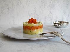 To be Gourmet: Milhojas de salmón y caviar.