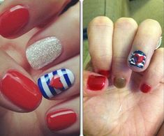 Pinterest Fail Indepedence Day Nail Art 4th Of July Fourth Nails New