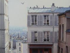 """""""Les toits de Montmartre"""" By Thierry Duval, from Paris - original watercolor; 39 x 52 cm; x in - Private Collection Montmartre Paris, Paris Rooftops, Paris Cafe, Paris At Night, Michel Delacroix, Versailles Paris, Louvre, Art Gallery, Eiffel"""