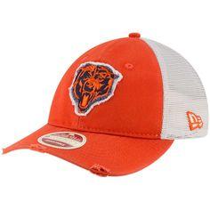 119c7909ea1 Men s Chicago Bears New Era Orange Natural Frayed Twill 9TWENTY Adjustable  Hat