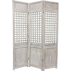 Wood Open Lattice Room Divider (China)   Overstock™ Shopping - Great Deals on Decorative Screens
