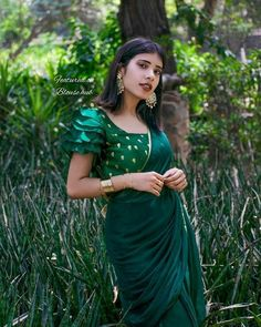 Get it custom made for you, in the Colors of your choice , made for your perfect fit. Get it custom made for you, in the Colors of your choice , made for your perfect fit. Lengha Blouse Designs, Saree Jacket Designs, Blouse Designs Silk, Designer Blouse Patterns, Bridal Blouse Designs, Saree Blouse, Lehnga Dress, Lehenga, Simple Blouse Designs