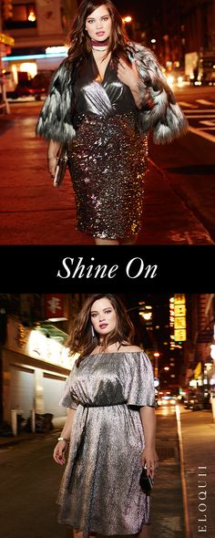 These plus size party dresses with sequin, lace or ruffle detail make for an exciting night out. Diva Fashion, Curvy Fashion, Plus Size Fashion, Fashion Beauty, Fashion Outfits, Plus Size Party Dresses, Plus Size Outfits, Mode Plus, New Years Eve Outfits