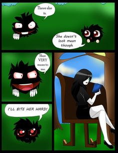 i eat pasta for breakfast pg 15 by Chibi-Works on deviantART Poor Jane! Creepypasta Comics, Creepypasta Cute, Creepy Games, Creepy Pasta Family, Creepy Monster, Ben Drowned, Comics Story, Jeff The Killer, Anime Neko
