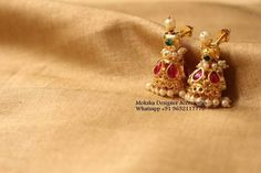 Gold Ring Designs, Gold Earrings Designs, Gold Jewellery Design, Necklace Designs, Gold Jewelry, Tiny Stud Earrings, Hanging Earrings, Simple Earrings, Gold Mangalsutra Designs