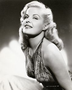 1950s actress Cleo Moore ~ a blonde bombshell often referred to as a clone of Marilyn Monroe