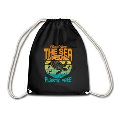 Ocean Lovers | Keep the Sea Plastic Free - Turnbeutel Hai, Drawstring Backpack, Lovers, Ocean, Plastic, Backpacks, Free, Shopping, Fashion