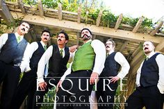 Moses & his dudes, totally rockin' an impromptu portrait shoot in the middle of the reception.  Equipped with mustaches of course!!   :-)    If you like this, be sure to check out more romantic, sexy and fun photography at www.esquirephotography.com- cheers!