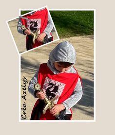 déguisement de chevalier  patron de la cagoule Costume Chevalier, Couture Sewing, Costumes, Baseball Cards, Sports, Coin, Narnia, Dragons, Bb
