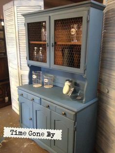 French Blue by Time Gone By with La Craie paint....like this too...maybe the white with accents of blue?????
