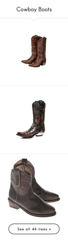 """""""Cowboy Boots"""" by zoe-keifer ❤ liked on Polyvore featuring shoes, boots, shoes boots, western boots, lace western boots, cowgirl boots, heart shoes, lace cowgirl boots, cowboy boots and studded biker boots"""