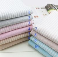 50*170cm High qulity Elastic cotton Lycra knitted fabric sanding striped cloth soft waxy skin baby T-shirt