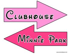 Arrows from Minnie Mouse Clubhouse Inspired Printable Photo Booth Prop Set