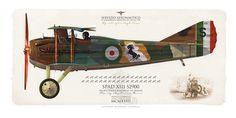 """SERVIZIO AERONAUTICO . ITALIAN AIR FORCE (WW1) 91ª Squadriglia AeroplanI DA CACCIA """"Squadriglia degli Assi"""" 1918. Flown by Maj Francesco Baracca.  my painting"""