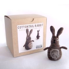 Cottontail Rabbit Needle Felting Kit -available online at www.the-quilt-rack.com